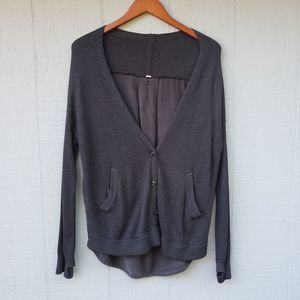 Lululemon Cardi in the Front Cardigan Grey Sweater